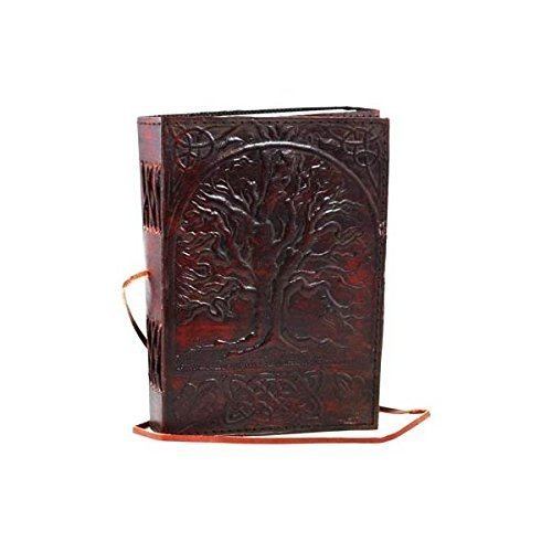 (Universal Sacred Oak Tree Leather Blank Book Leather Journal Writing Notebook for Men and Women)