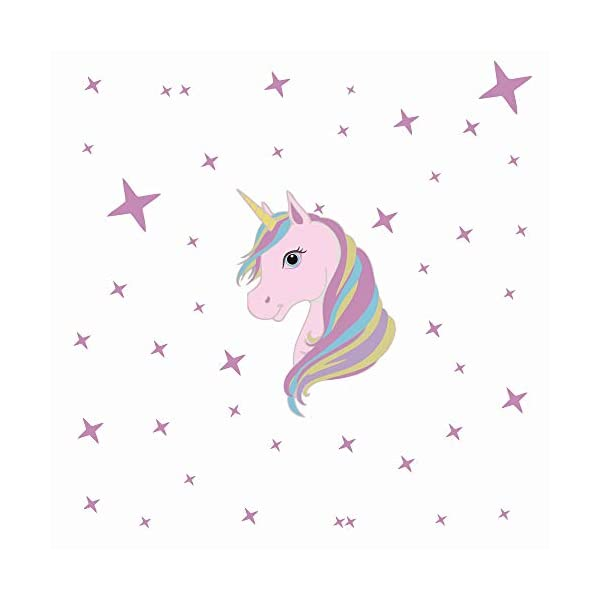 KUYUE Wall Decals Removable Unicorn Wall Stickers for Girls Decorations Bedroom Living Room Playroom Classroom 3