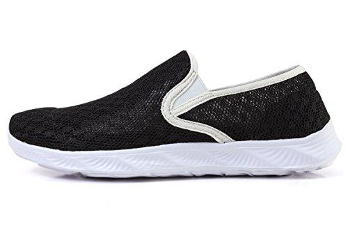 Women's Drying Lightweight Aqua Shoes Mesh amp; Water Quick Black Men's rqrg1