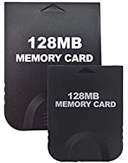 Aoyoho 2 Pack Black 128MB Gaming Memory Card Compatible for Wii and Gamecube