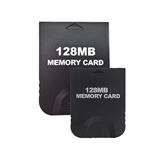 Aoyoho 2 Pack Black 128MB Gaming Memory Card Compatible for Wii and Gamecube (Wii Console Memory Card)