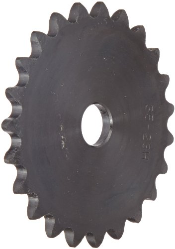 (Browning 35A23 Plate Roller Chain Sprocket, Single Strand, Type A Hub, Steel, 1/2