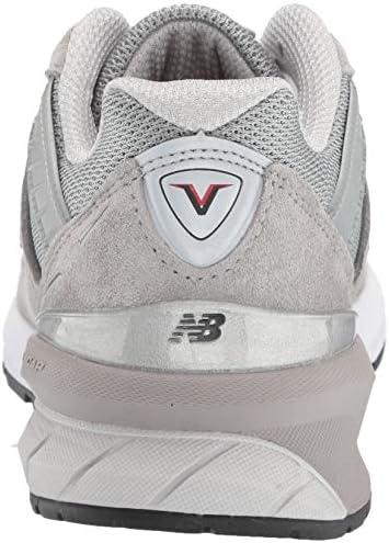 New Balance Damen 990v5 Turnschuh, Grey/Castlerock, 37.5 EU