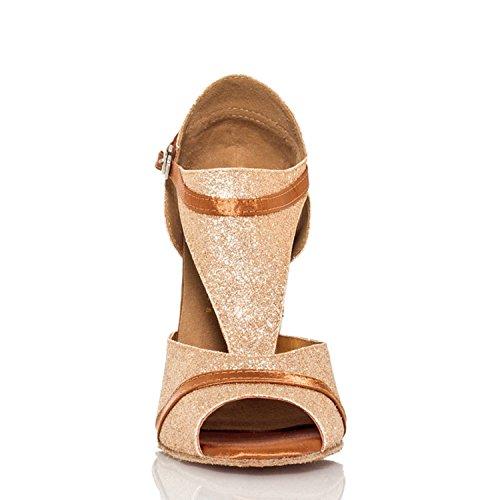 femme Miyoopark bal heel Salle de Gold 10cm WWzn71ag