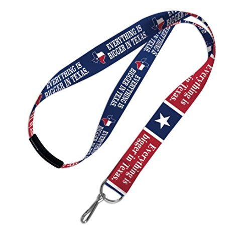 WinCraft State of Texas Everything is Bigger in Texas Lanyard with Detachable ()