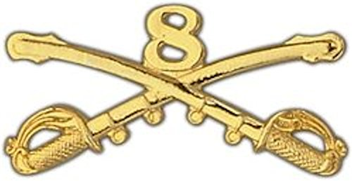8th Cavalry Large Pin Cavalry Hat Pins