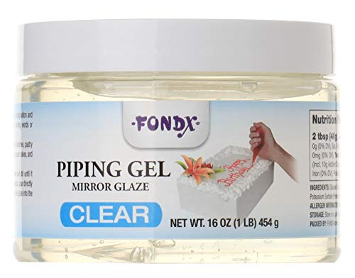 FondX Clear Mirror Glaze Piping Gel, 1 Pound ()