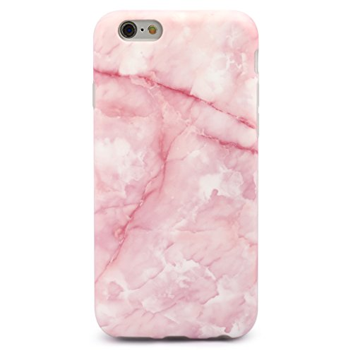 GOLINK iPhone 6/6S Girl Case IMD Printing Slim-Fit Ultra-Thin Anti-Scratch Shockproof Dust Proof Anti-Finger Print TPU Case for iPhone 6/6S (4.7 inch) - Pink Marble