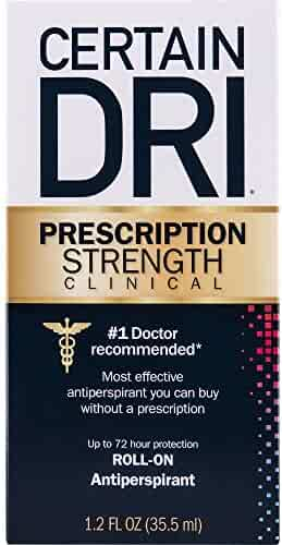 Certain Dri Anti-Perspirant| Prescription Strength Clinical | Most Effective Anti-Perspirant Without a Prescription | Up to 72 Hour Protection | Roll-On | 1.2 oz.
