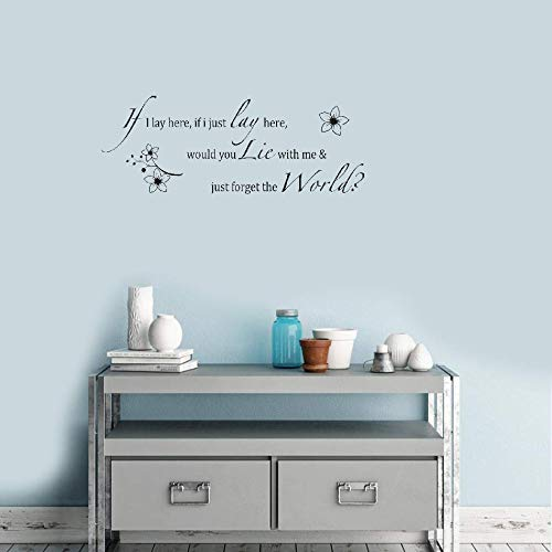 if i lay here wall decal - 9