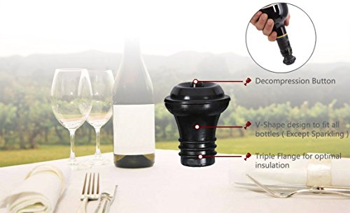 Wine Saver Preserver Vacuum Pump with Wine Aerator/Pouring Spout and 3 Vacuum Bottle Stoppers to Save Fresh by Winer Life (Image #2)