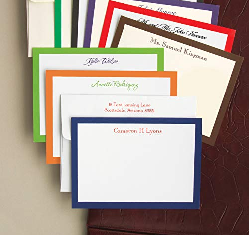 Bold Bordered Correspondence Cards - Set of 24 - WBC