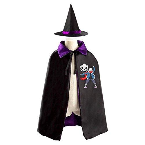 [Undertale Kid Halloween Cloak Vampire Cape Witch Hat Cosplay] (Toriel Cosplay Costume)