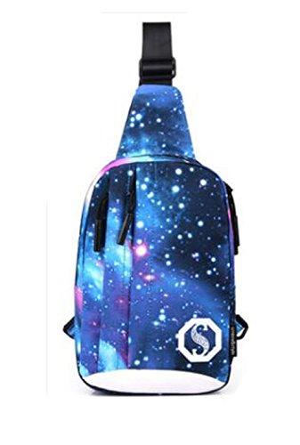 Hiking and Leisure - Bolso bandolera Niño Mujer Hombre Blue (galaxy pattern)