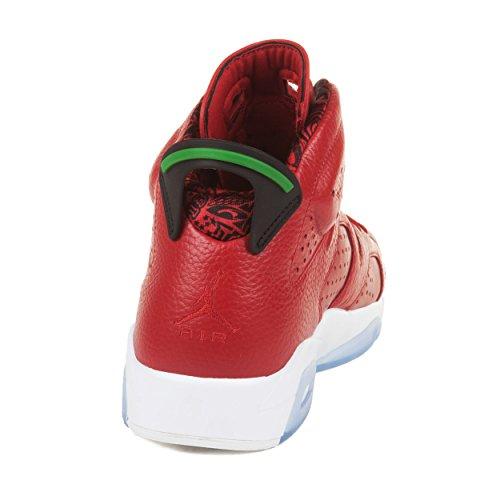 Nike Mens Air Jordan 6 Retro Spizike Storia Di Spizike Varsity Rosso / Classico Green-wht Scarpe Da Basket In Pelle Taglia 8