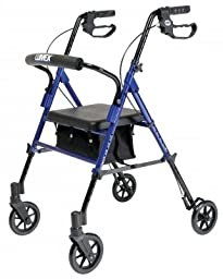 Lumex RJ4700B Set n\' Go Height Adjustable Rollator, Blue