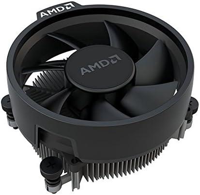 AMD Wraith Stealth Socket AM4 4-Pin Connector CPU Cooler with Aluminum Heatsink & 3.93-Inch Fan (Slim)