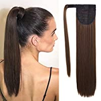 SEIKEA Clip in Ponytail Extension Wrap Around Straight Hair for Women