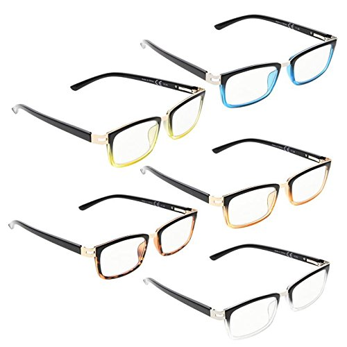 READING GLASSES 5 pack Two-Tone Readers ()