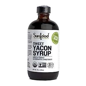 Yacon Syrup Organic Sunfood - 8 fl oz Liquid
