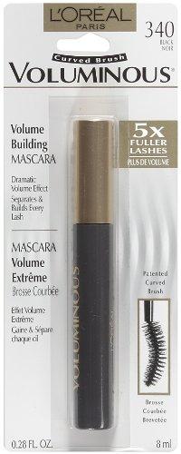 L'oreal volumineux Mascara personnalisée brosse courbée, Noir, 0,28 once-Fluid