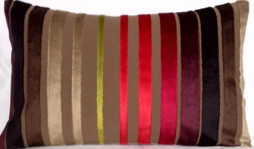 Striped Accent Pillow Case Designers Guild Fabric Scarlet Re