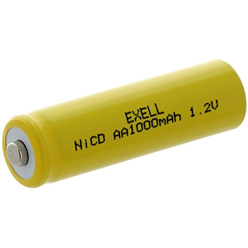 Exell AA 1.2V 1000mAh NiCD Button Top Rechargeable Battery For Solar Lights Path Lights Outdoor Lighting Garden Solar Lighting
