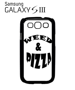 Weed and Pizza Cocaine Mobile Cell Phone Case Samsung Galaxy S3 White