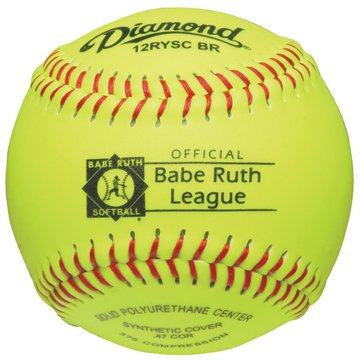 Diamond Sports 12-Inch Optic Super Synthetic Cover Babe Ruth Softball (Dozen) ()