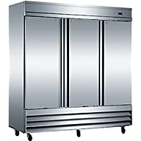 3 Door Commercial Stainless Steel Refrigerator CFD-3RR NSF