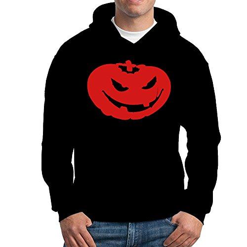Jozie Men's Hoodie Halloween Pumpkin Size XXL Black