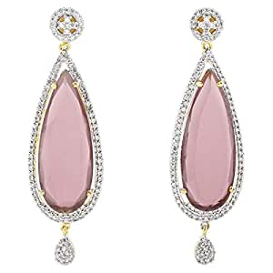 Arabella Luxuries Alloy The Statly Red Drop and Dangle Earring