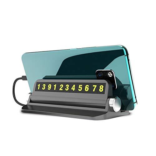 BANGNA Multifunctionele Hideable Night Lichtgevende Auto Tijdelijke Parking Card Auto Telefoon Nummer Kaartplaat Auto…