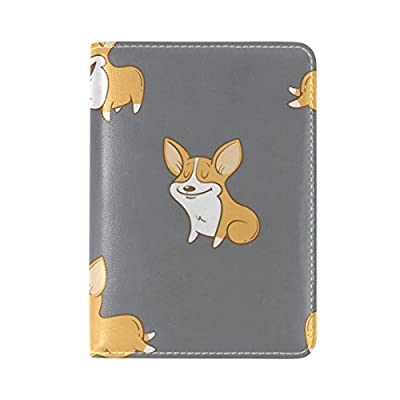 021ae97d8413 free shipping AURELIOR Cute Corgi Dogs Puppy Leather Passport Holder ...