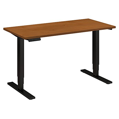 (Move 80 Series 48W Height Adjustable Standing Desk in Natural Cherry with Black Base)