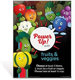 Fruit and Vegetables Kids Nutrition Poster   Garden Heroes Fruit & Veggie Poster   18