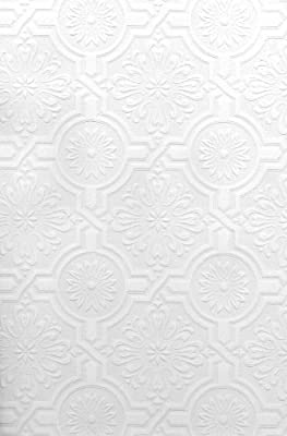 Brewster Nazareth Ornate Tiles Paintable Wallpaper Paintable