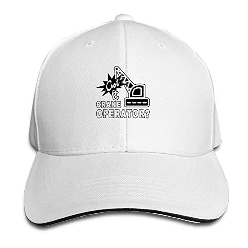 Got Crane Operator Flat Brim Hats Snapback Cap Plain Caps for Men Women ()