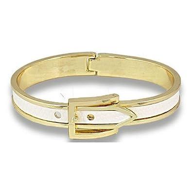 code promo rechercher les plus récents qualité de la marque émail blanc Bracelet Boucle de ceinture Menottes en cuir à ...