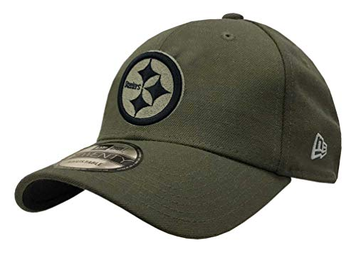 New Era Mens NFL 2018 Salute to Service 9Twenty Strapback Hat (Pittsburgh Steelers)