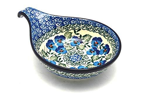 Polish Pottery Spoon/Ladle Rest - Winter Viola