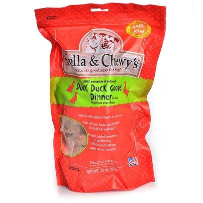 Stella and Chewy's Freeze-Dried Raw Duck Dinner for Dogs, 16oz, My Pet Supplies