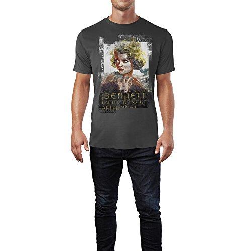 SINUS ART® Bennett Herren T-Shirts stilvolles rauch graues Fun Shirt mit tollen Aufdruck