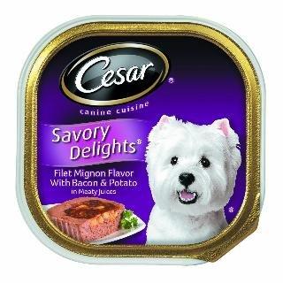 Cheap Cesar Canine Cuisine Savory Delights Filet Mignon Flavor with Bacon & Potato