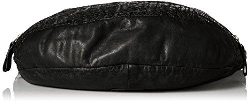 Liebeskind Berlin Damen California Multpo Schultertasche, 9x33x48 cm Schwarz (Oil Black)