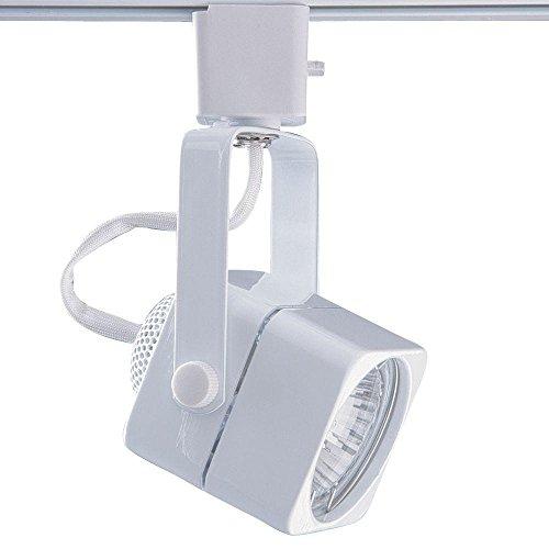 Kendal Lighting TLGU-15-WH Designers Choice 1-Light 120V GU10 Track Head, White Finish