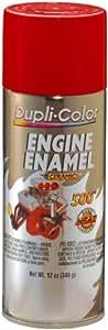 Dupli-Color DE1653 Ceramic Red Engine Paint - 12 oz.