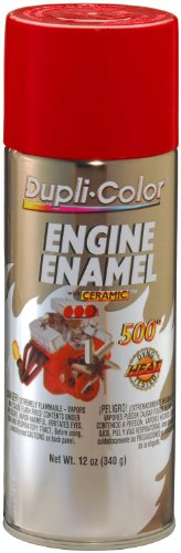 Dupli-Color DE1653 Ceramic Red Engine Paint - 12 oz.