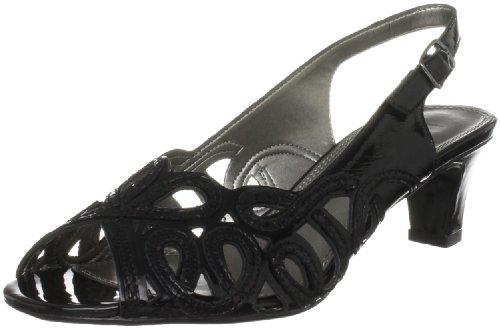 Noir Escarpins Verni femmes de Peau Serpent Lotus Harper qp1tUx