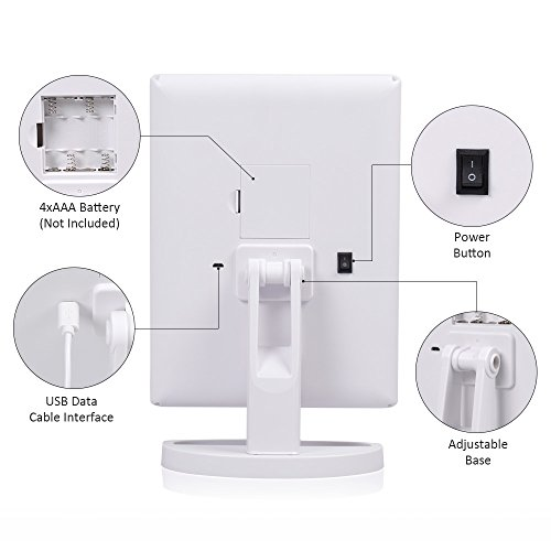 DreamGenius-Makeup-Mirror-LED-Trifold-Lighted-Vanity-Mirror-with-Touch-Screen-1x2x3x-Magnification